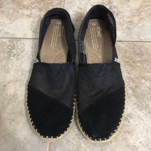 Black Toms Size 8